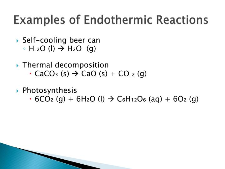 Examples of Endothermic Reactions