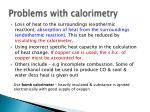 problems with calorimetry