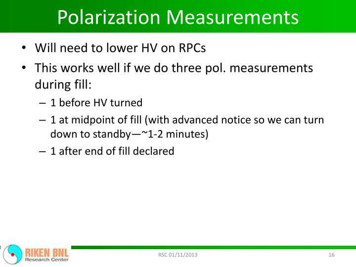 Polarization Measurements