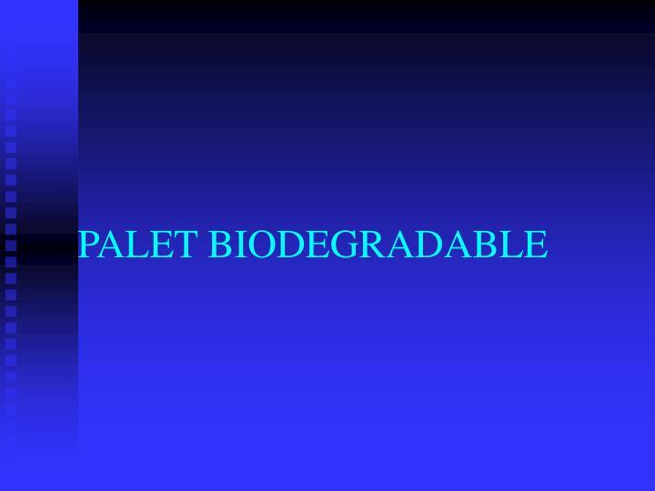 PALET BIODEGRADABLE