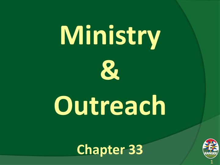 Ministry outreach