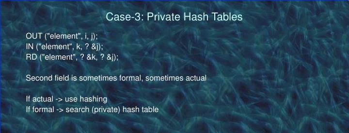 Case-3: Private Hash Tables