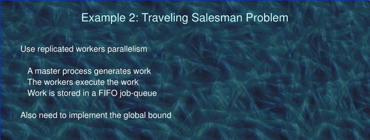 Example 2: Traveling Salesman Problem