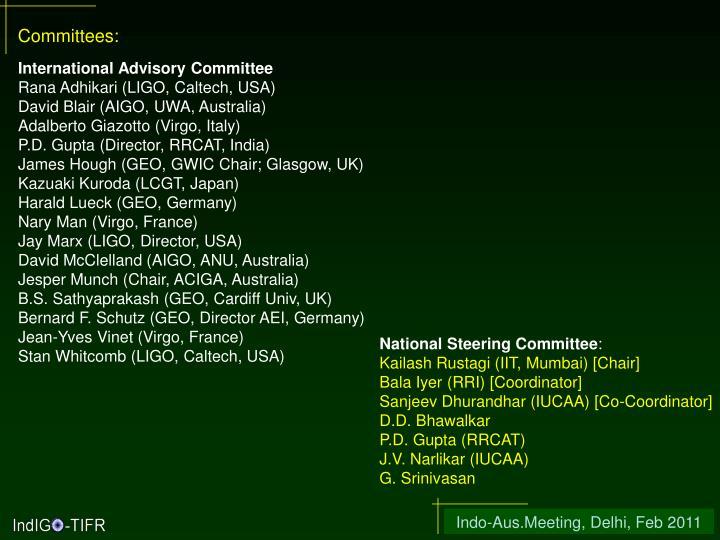 Committees: