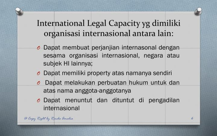 International Legal Capacity