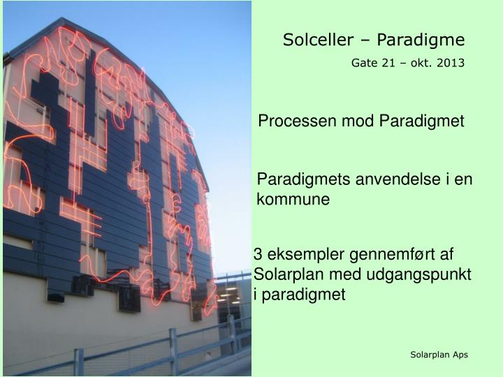 Solceller – Paradigme