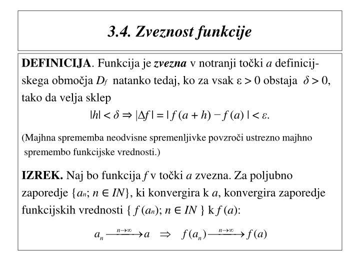 3.4. Zveznost funkcije