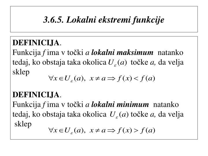 3.6.5. Lokalni ekstremi funkcije