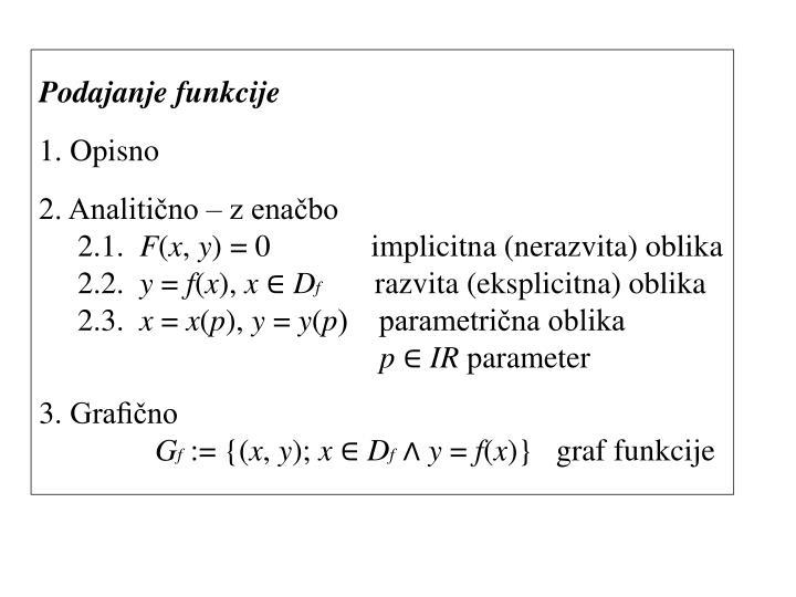 Podajanje funkcije