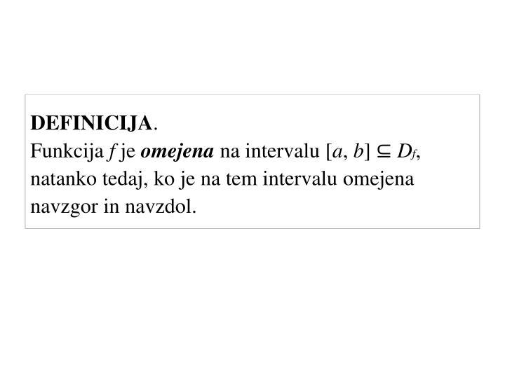 DEFINICIJA
