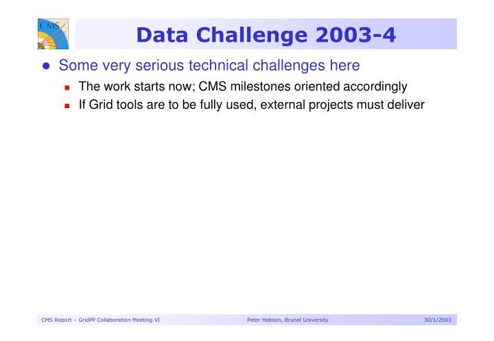 Data Challenge 2003-4