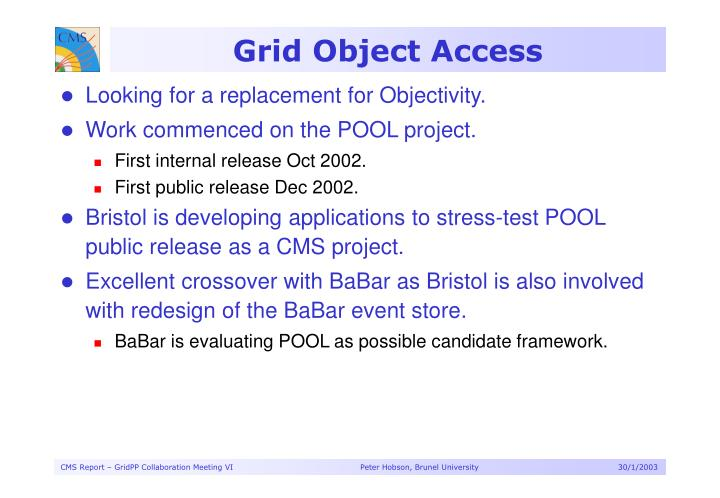 Grid Object Access