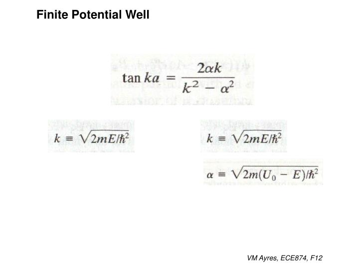 Finite Potential Well