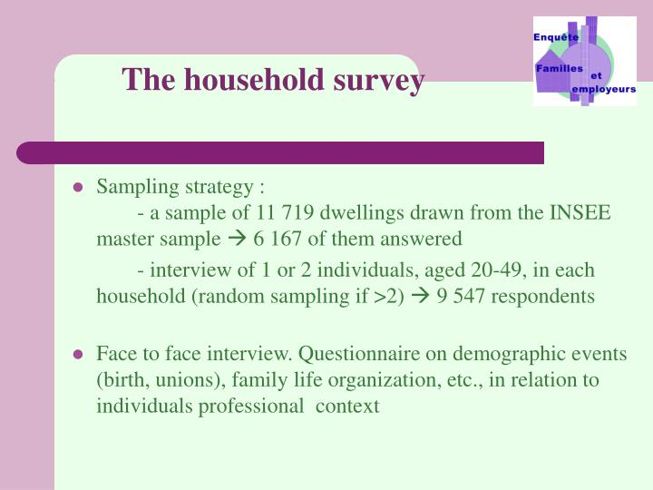 The household survey