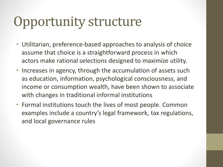 Opportunity structure