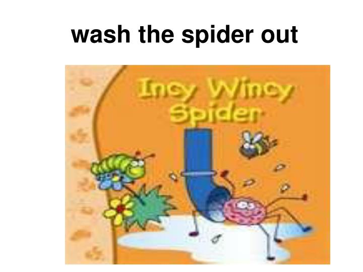 wash the spider out