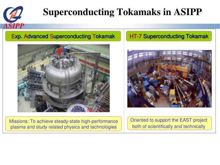 Superconducting Tokamaks in ASIPP