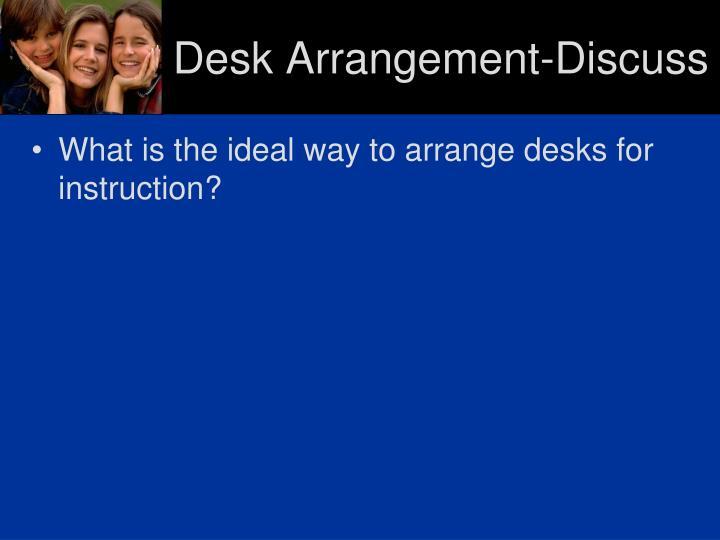 Desk Arrangement-Discuss