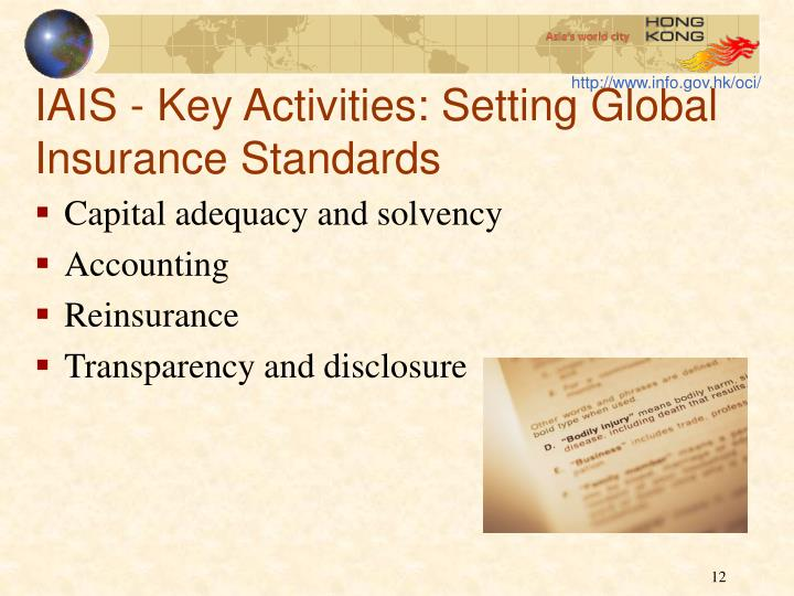 IAIS - Key Activities: Setting Global Insurance Standards