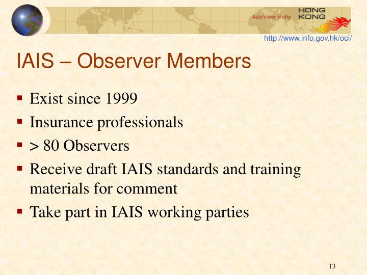 IAIS – Observer Members