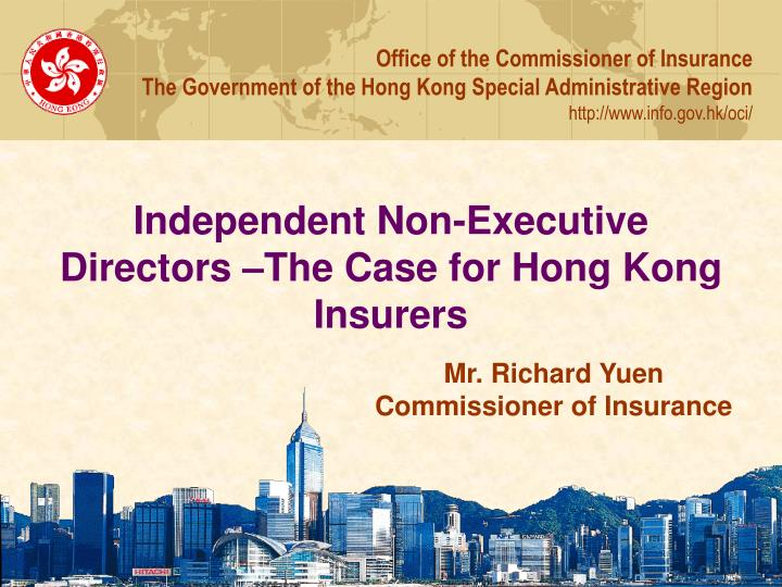 Independent non executive directors the case for hong kong insurers