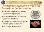 international association of insurance supervisors iais missions