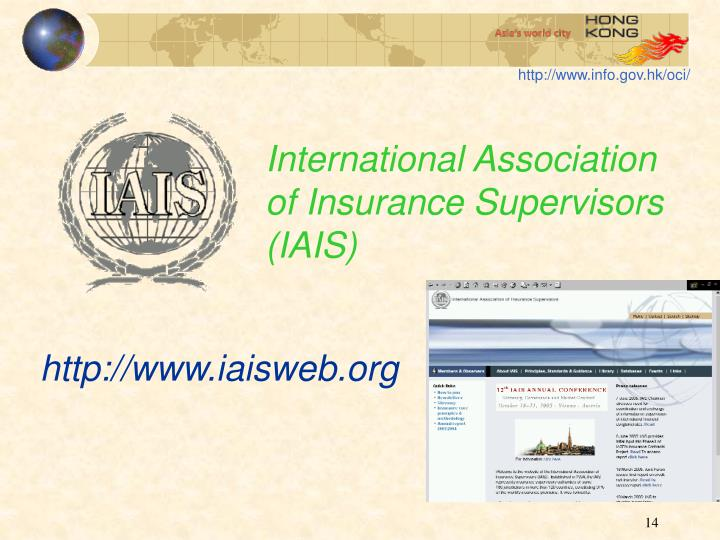 International Association of Insurance Supervisors (IAIS)