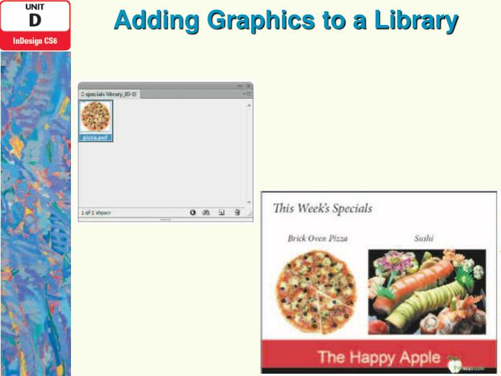 Adding Graphics to a Library