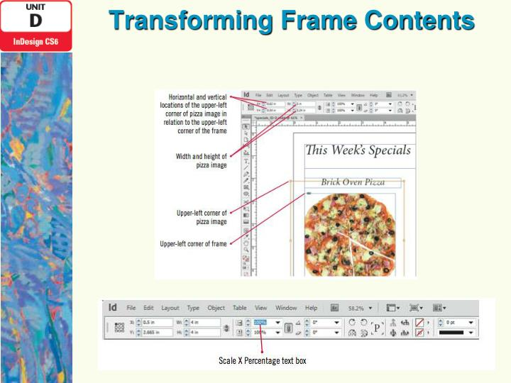 Transforming Frame Contents