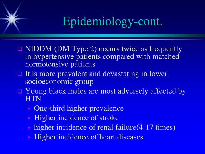 Epidemiology-cont.