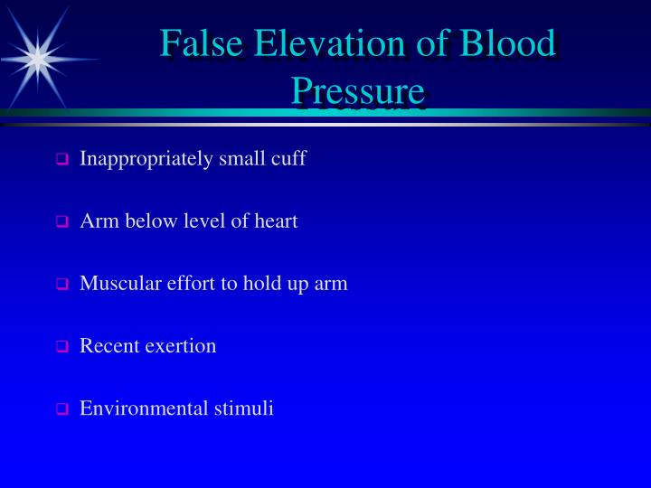 False Elevation of Blood Pressure