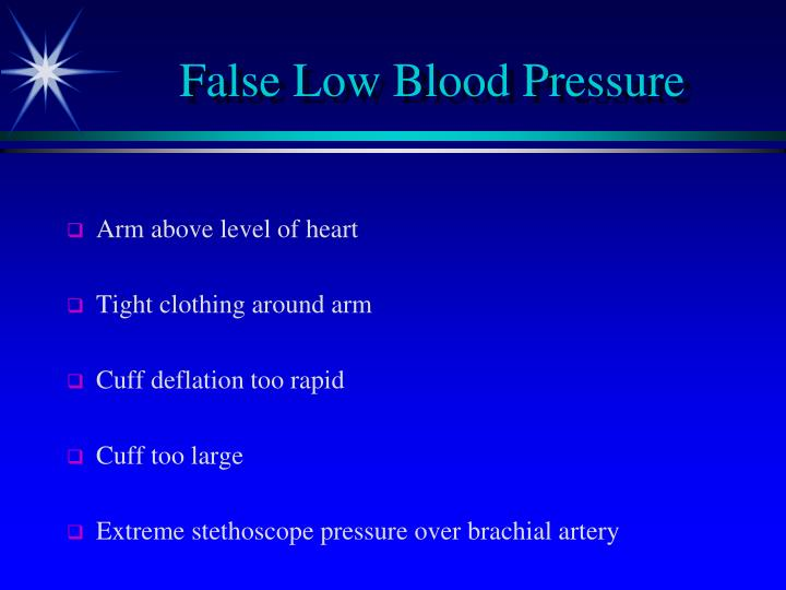 False Low Blood Pressure