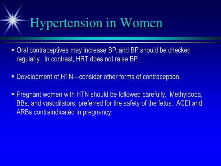Hypertension in Women