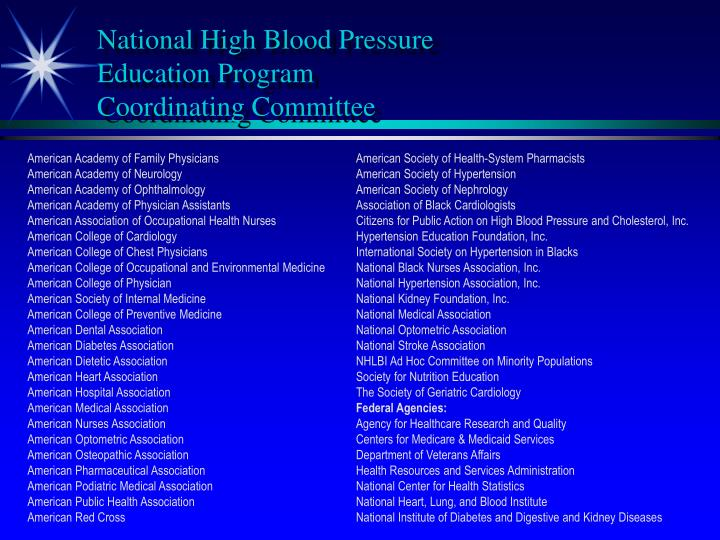 National High Blood Pressure