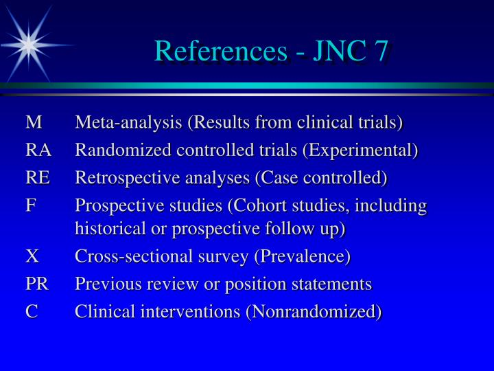 References - JNC 7