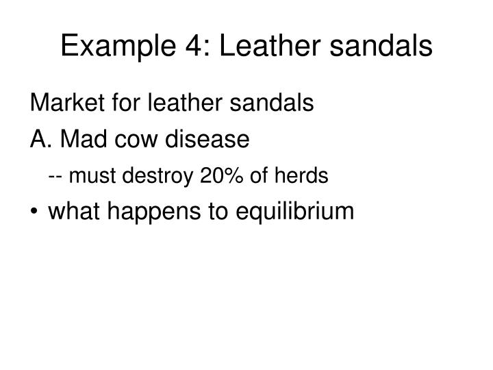 Example 4: Leather sandals