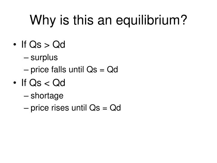 Why is this an equilibrium?