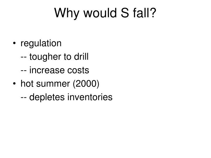 Why would S fall?