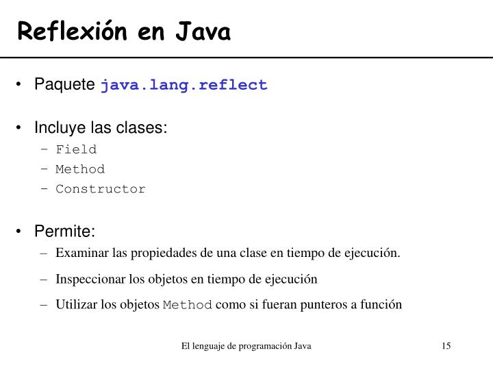 Reflexión en Java