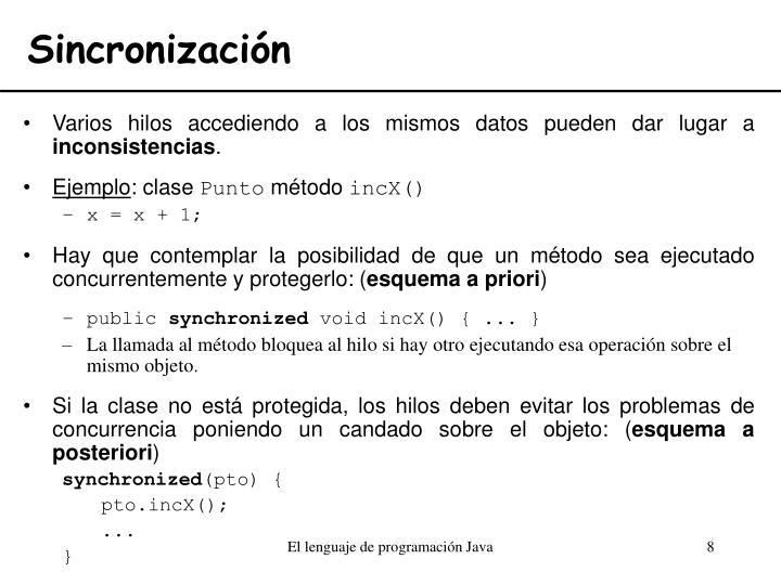 Sincronización