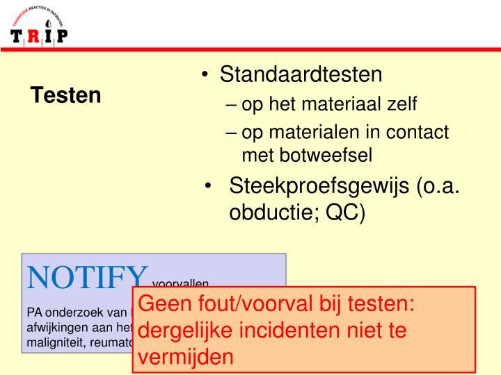 Standaardtesten