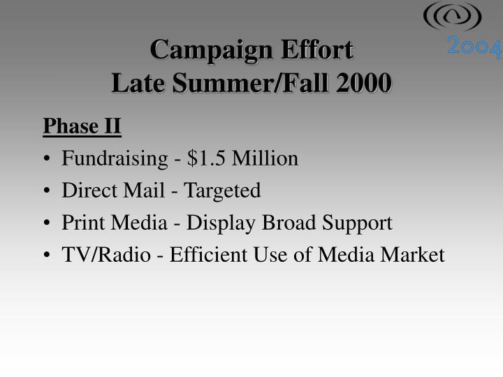 Campaign Effort
