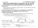 slot based ps poll listeninterval cont d