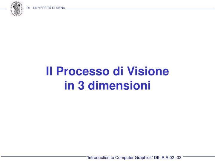 Il Processo di Visione
