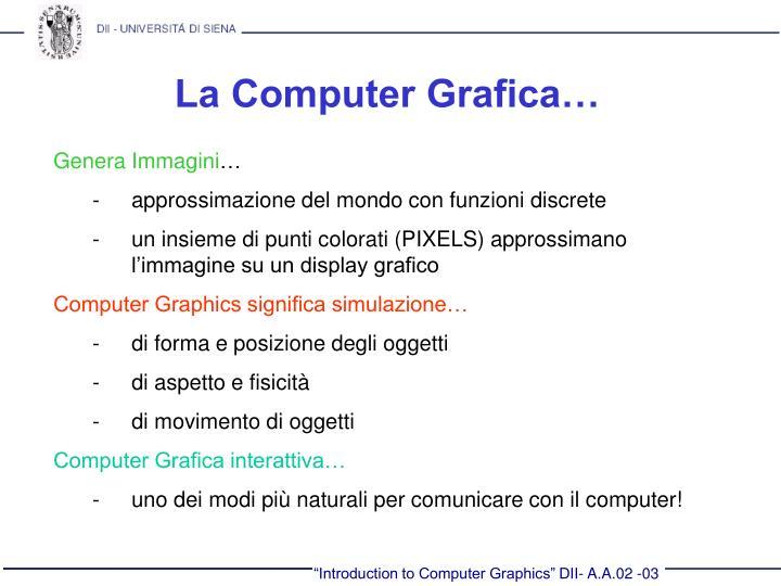 La Computer Grafica…