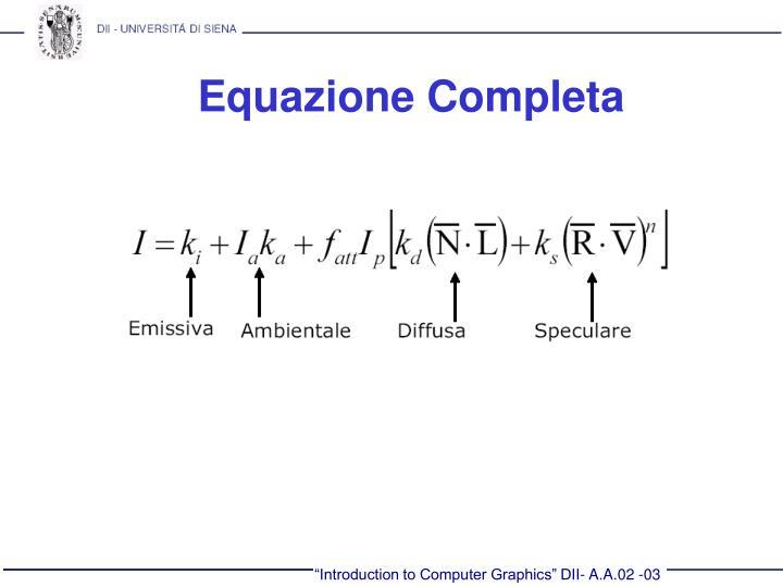 Equazione Completa