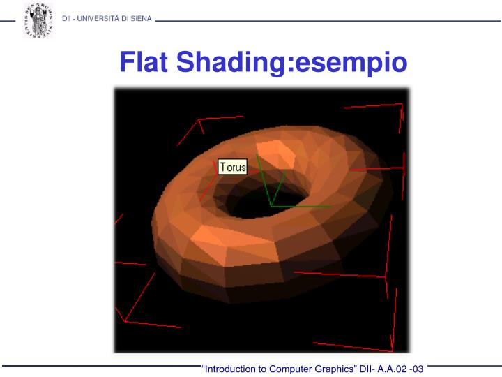 Flat Shading:esempio