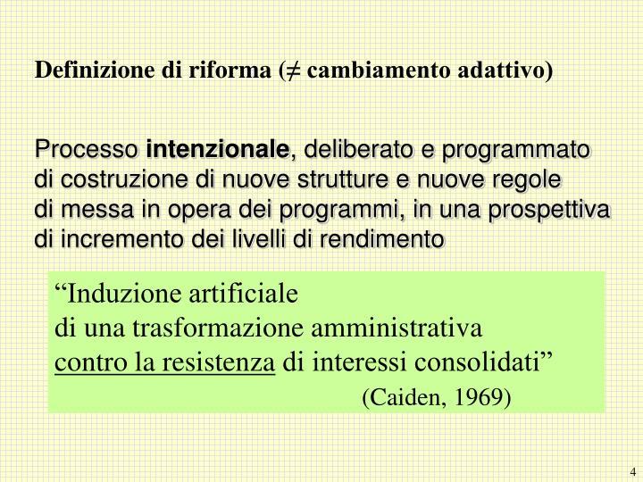 Definizione di riforma (