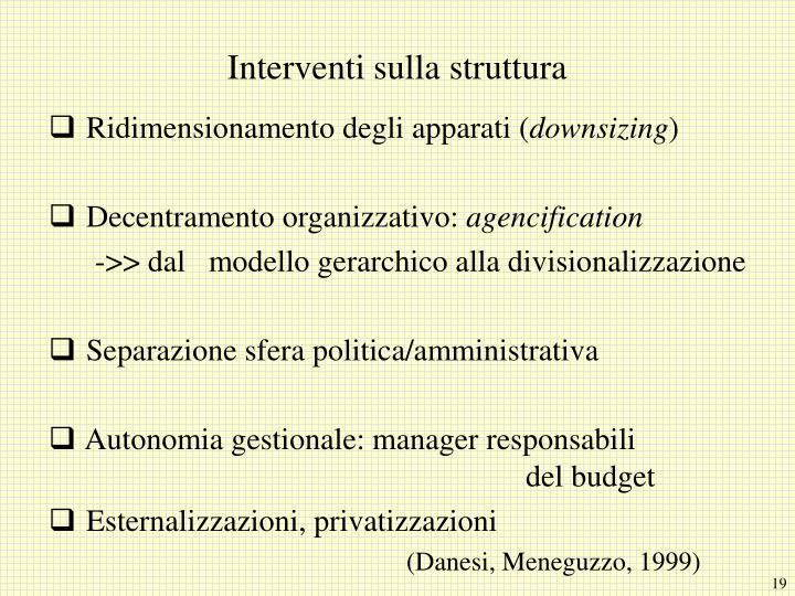 Interventi sulla struttura