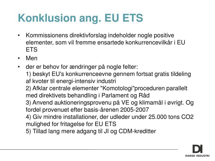 Konklusion ang. EU ETS